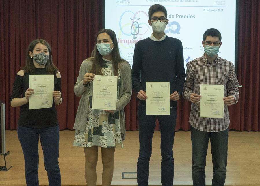 premios de la Fase Local de la XXXIV Olimpiadas Española de Química