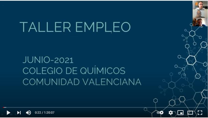 Taller gratuito de empleo colegio de quimicos comunidad valenciana